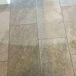 Large plank tile and grout cleaning