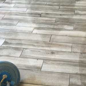 wood look a like plank tile cleaning