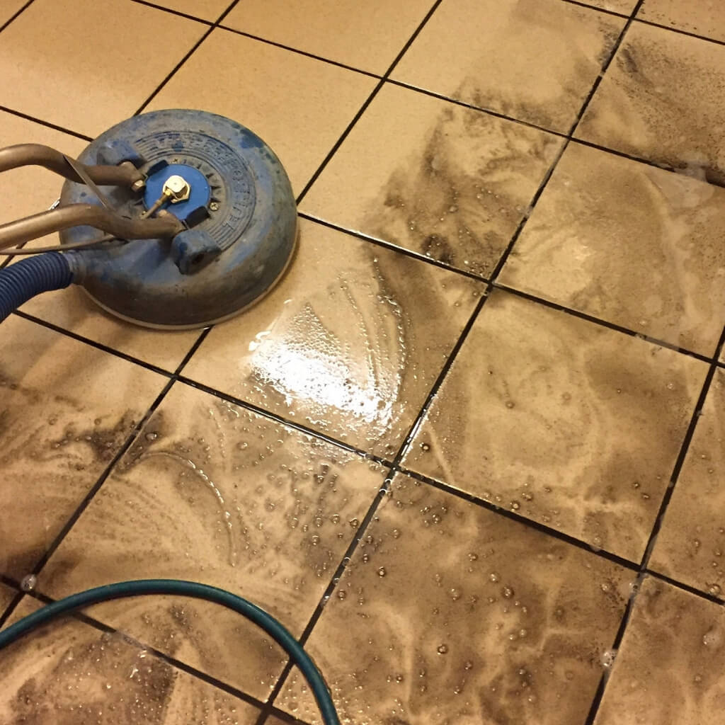 Cleaning of dirty tile and grout in Las Vegas